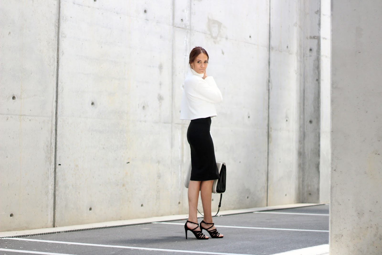quitealooker outfit zara pencil skirt