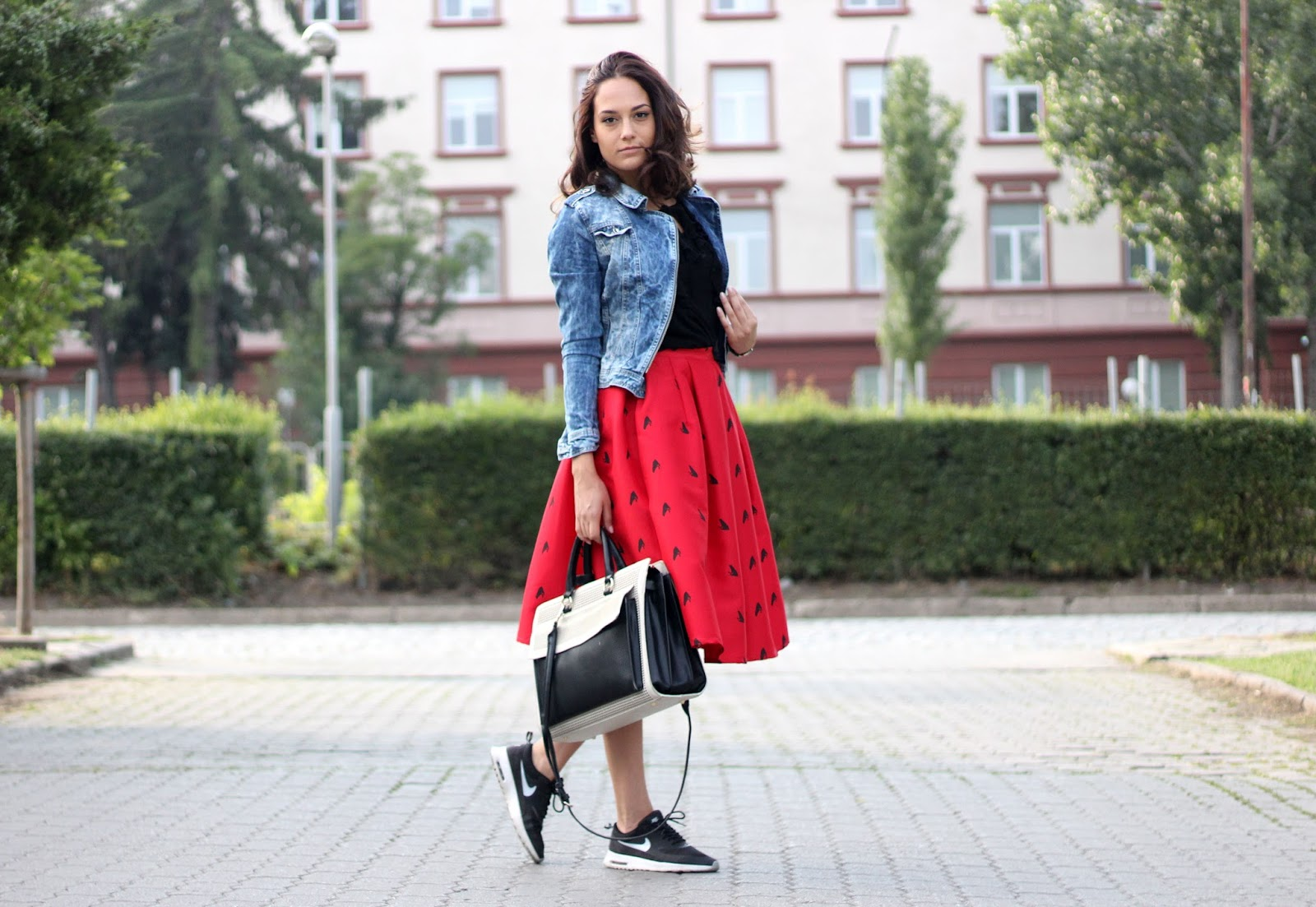 red romwe skirt quitealooker review fashion blog blogger