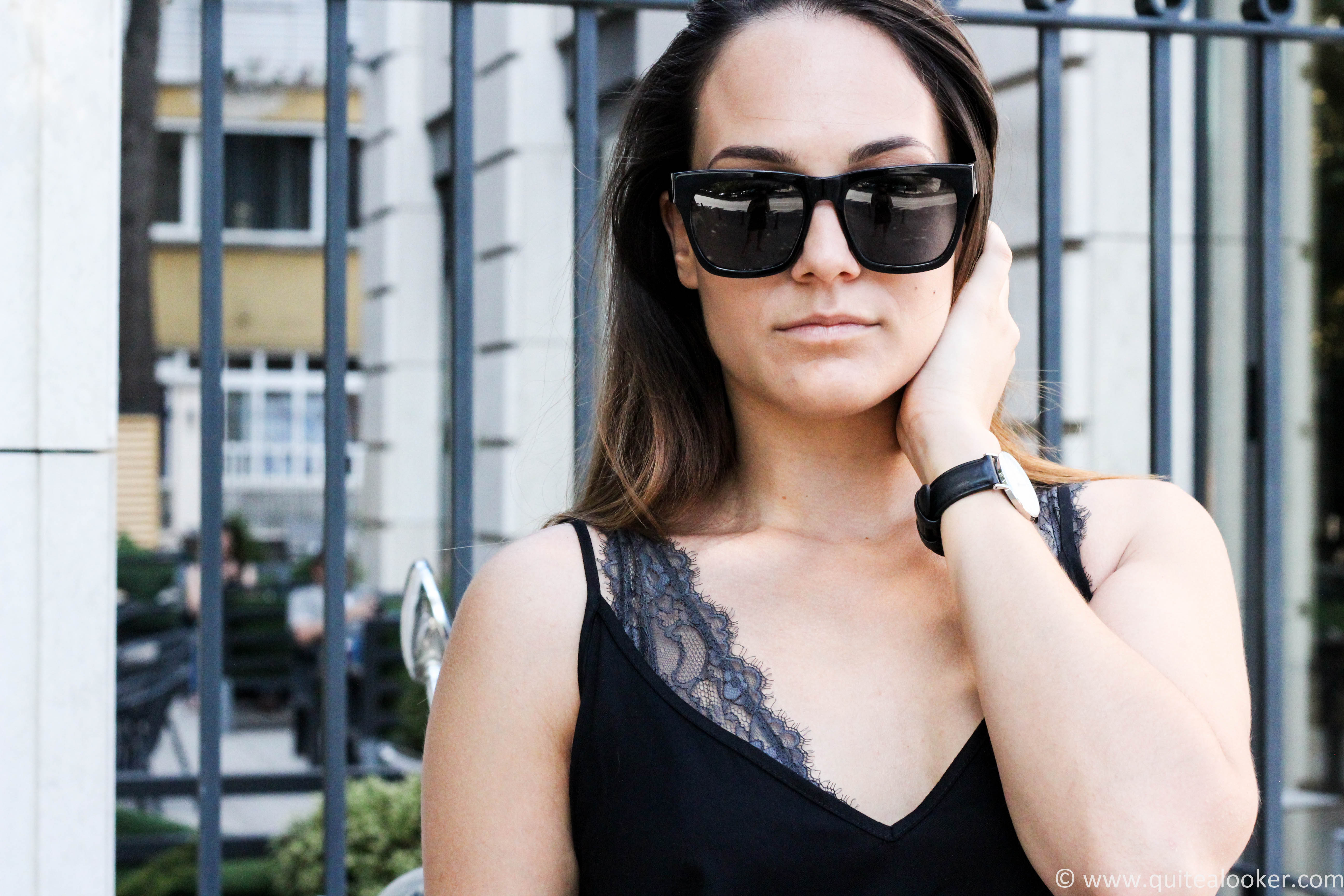 outfit post deichmann bulgaria in collaboration with bulgarian fashion blogger quite a looker vespa polette eyewear hm jumpsuit www.quitealooker.com