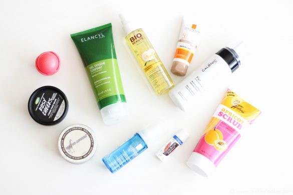 beauty favorites july 2016 by Lina from bulgarian beauty blogger blog quite a looker www.quitealooker.com galenic la roche-posay scrub sun screen matte