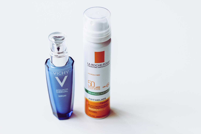 vichy larocheposay facemask sunscreen avene
