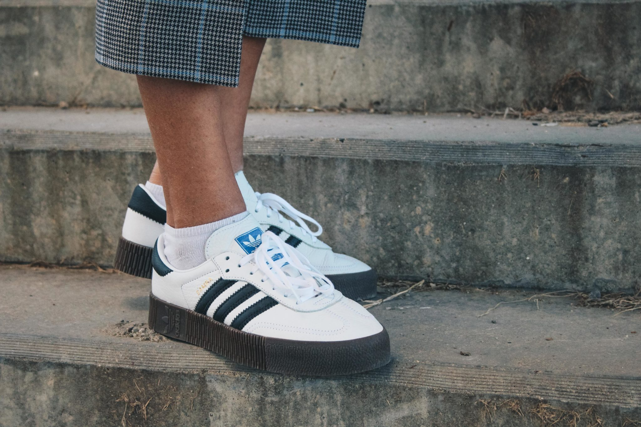 Adidas Originals Sambarose white women outfit, style by Bulgarian fashion blogger Michaella from Quite a Looker